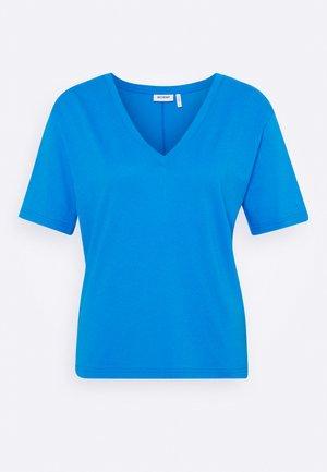 LAST V NECK - T-Shirt basic - blue