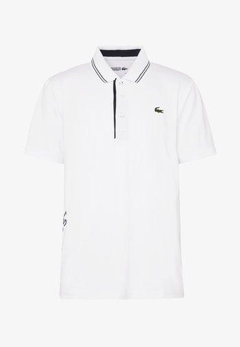 BASIC GOLF - Sports shirt - white/navy blue