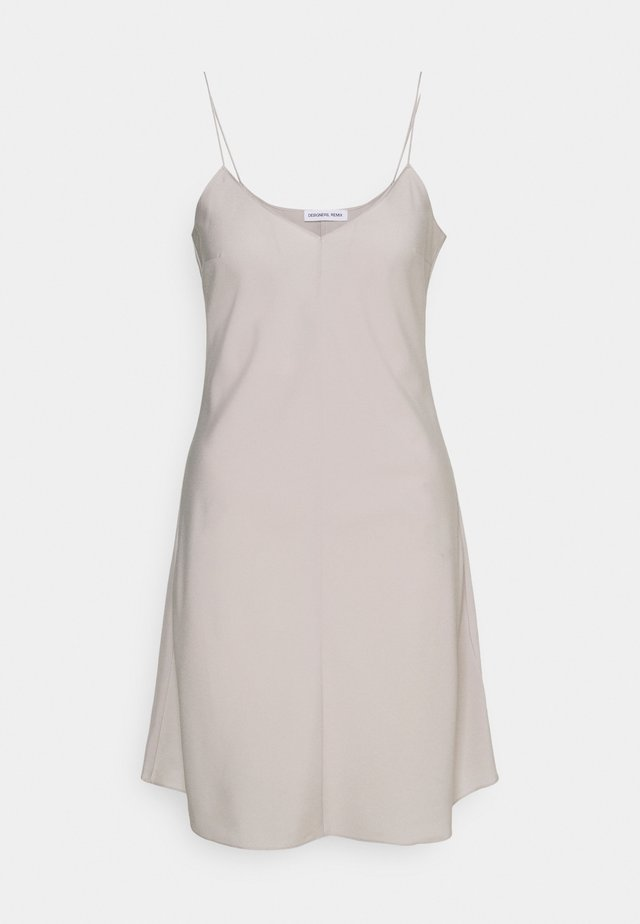 VALERIE SLIP DRESS - Korte jurk - light grey