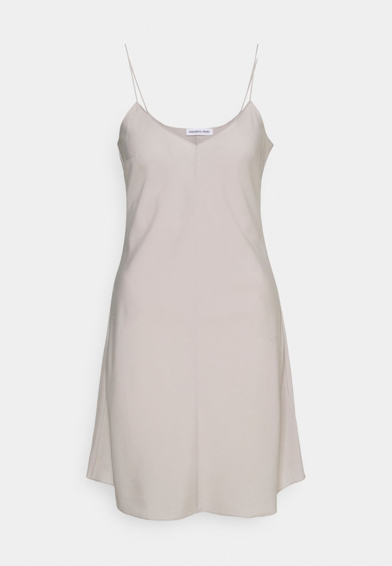 DESIGNERS REMIX - VALERIE SLIP DRESS - Day dress - light grey