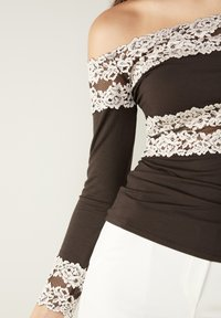 Intimissimi - PRETTY FLOWERS - Long sleeved top - braun - coffee brown - 4