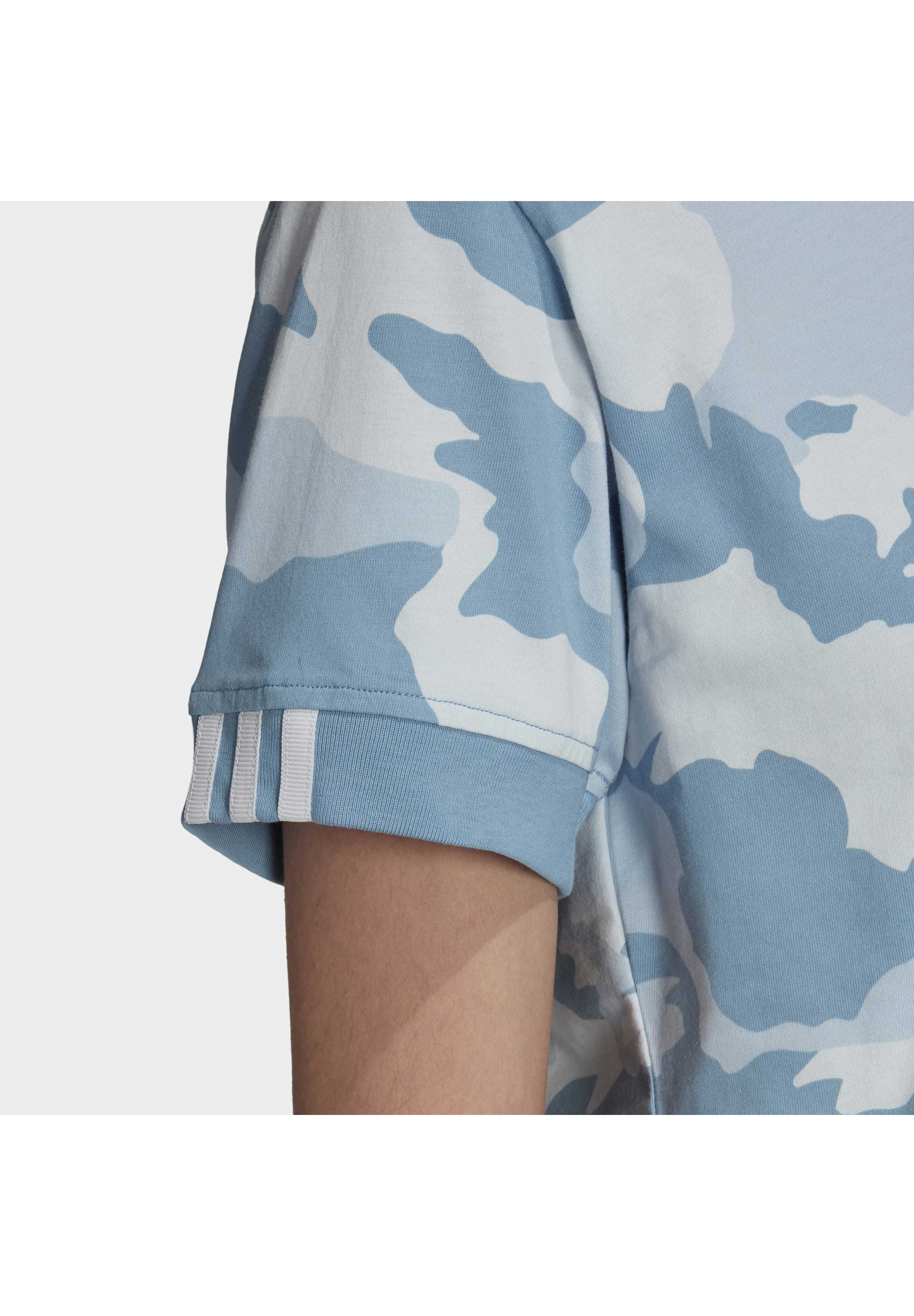 Adidas Originals Crop Top - T-shirts Med Print Blue/hvit