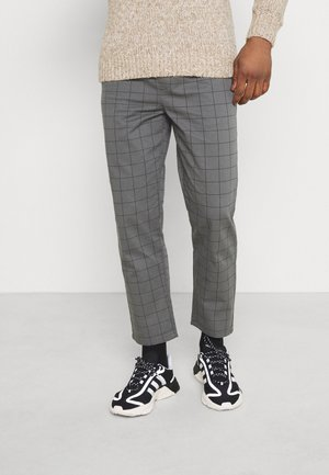 CHECK TROUSER - Tygbyxor - grey