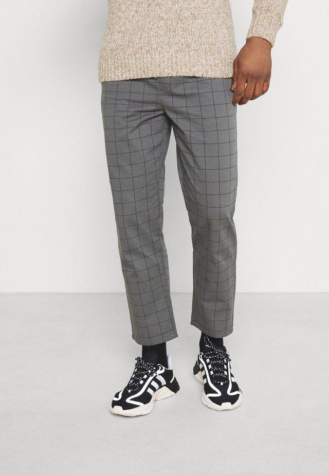 CHECK TROUSER - Kalhoty - grey