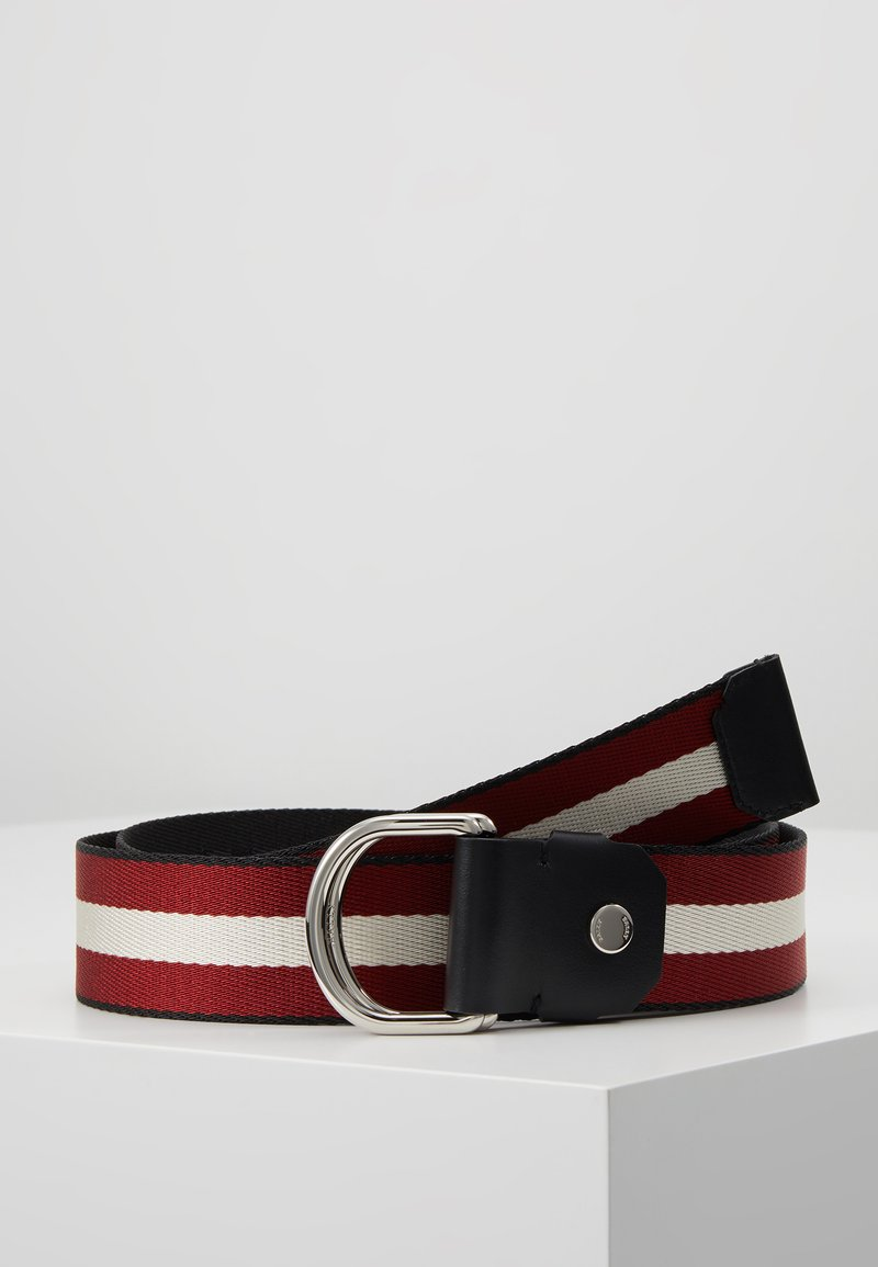 Bally - COPPER - Pásek - black/bone/red/black