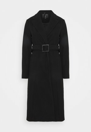 BELT WRAP - Classic coat - black