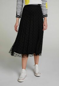 Oui - A-line skirt - black - 0