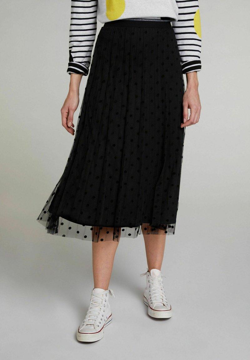 Oui - A-line skirt - black