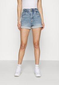 Cotton On - HIGH RISE CLASSIC STRETCH - Shorts di jeans - cabarita blue - 0