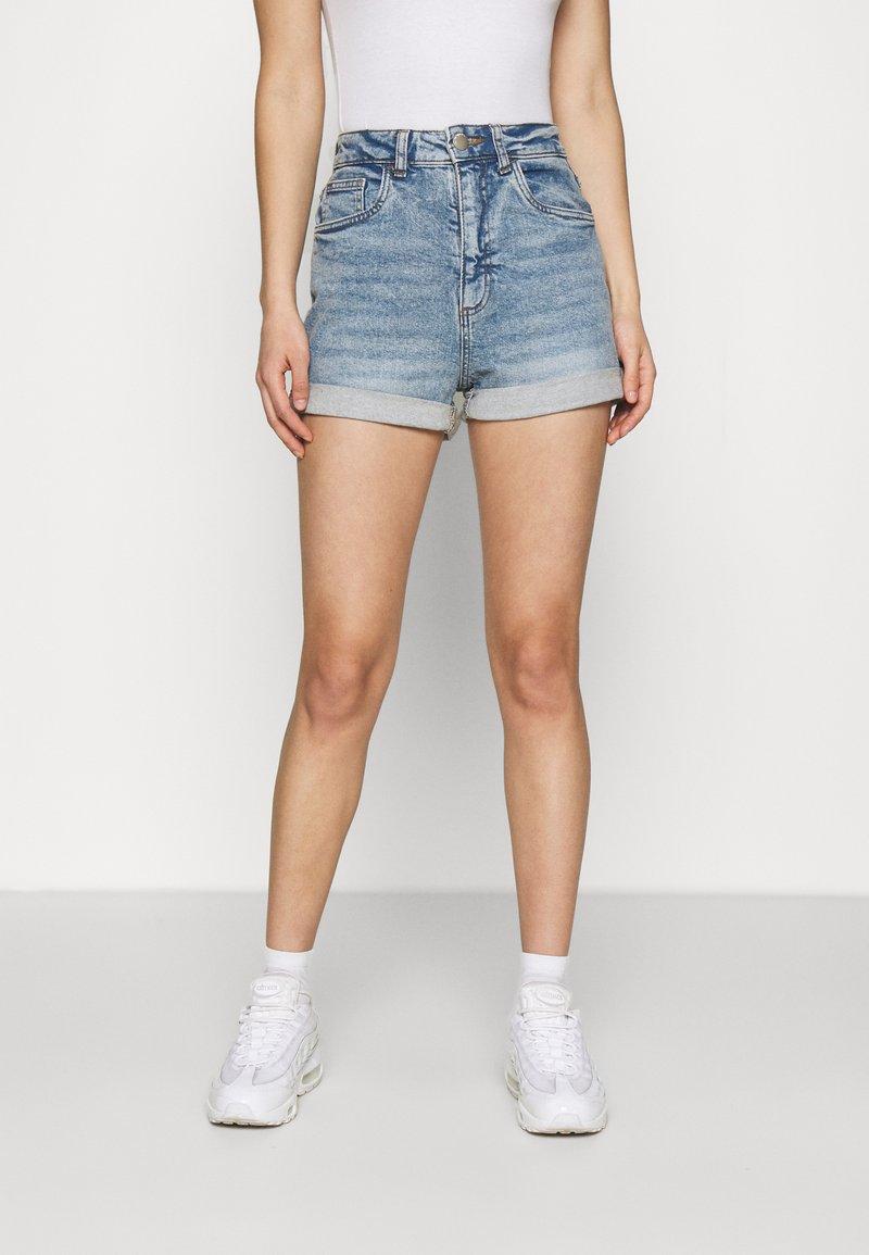 Cotton On - HIGH RISE CLASSIC STRETCH - Shorts di jeans - cabarita blue
