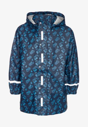 BAUSTELLE ALLOVER - Waterproof jacket - marine