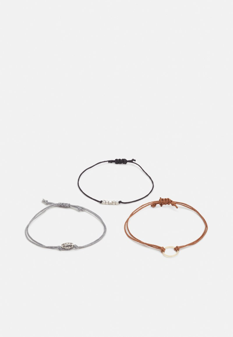 Burton Menswear London - TIE ME UP 3 PACK - Bracelet - multi-coloured