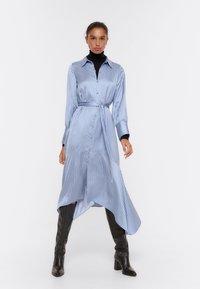 Uterqüe - Shirt dress - blue - 1