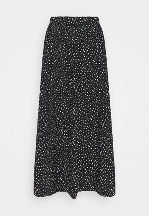 ONLZILLE SKIRT - Maxi skirt - black/white