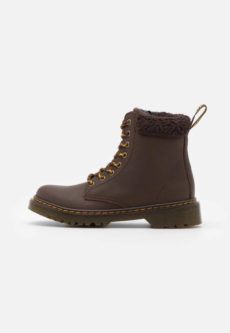 Dr. Martens - 1460 COLLAR REPUBLIC WP - Lace-up ankle boots - dark brown