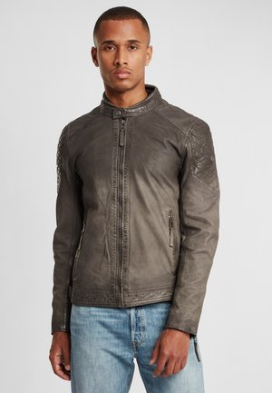 Leather jacket - anthracite