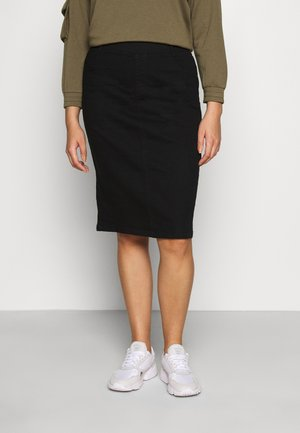NEW PULL ON SKIRT - Pouzdrová sukně - black