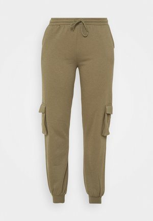 PCSARIA PANTS - Trousers - burnt olive
