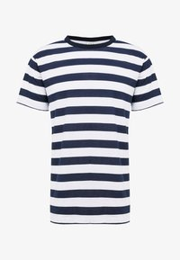 JPRSPON TEE CREW NECK  - Print T-shirt - sky captain/american
