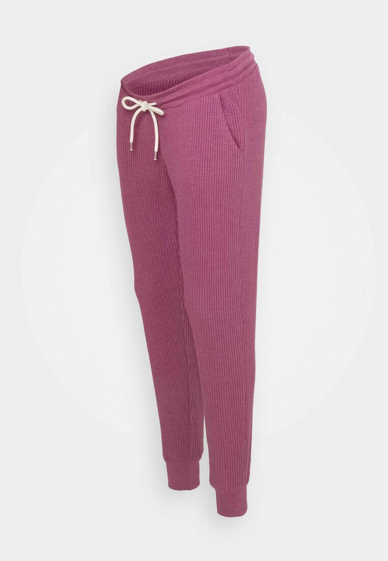 GAP Maternity - UNDERBELLY - Tracksuit bottoms - deep dahlia