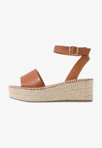 New Look Wide Fit - WIDE FIT POPPINS - Sandali con plateau - tan - 1