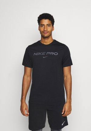 TEE PRO - T-shirt med print - black/iron grey