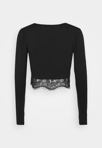Missguided Tall - TRIM CROP TOP - Blouse - black - 1
