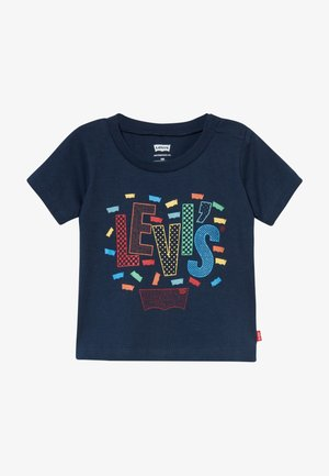 GRAPHIC TEE - T-shirt z nadrukiem - dress blues