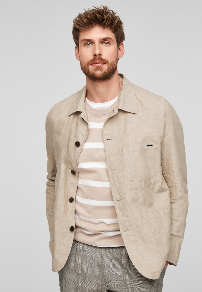 s.Oliver BLACK LABEL - Light jacket - beige melange