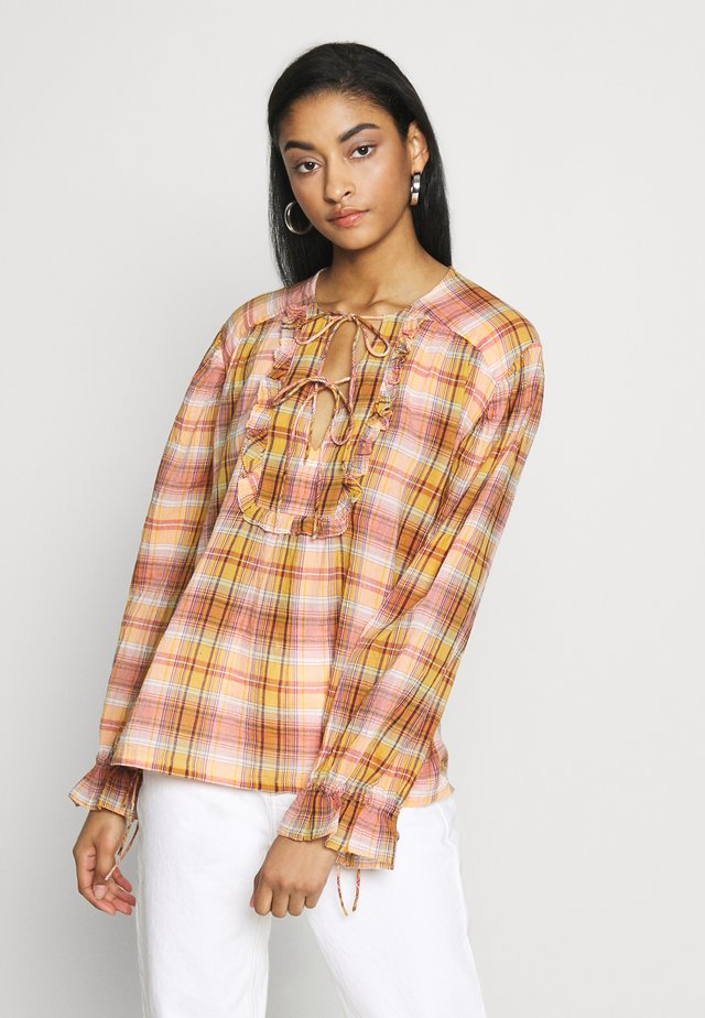 CHOUPETTE MADRAS - Blouse - orange