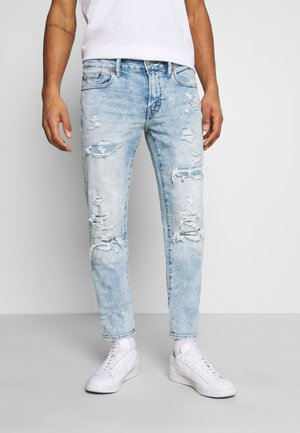 Jeans Skinny Fit - light destroy wash