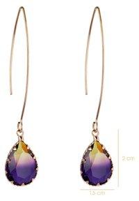 CHIC by Lirette - Earrings - paars geel - 3