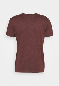 Burton Menswear London - SHORT SLEEVE CREW 3 PACK - T-shirt basic - black/charcoal/burgundy - 2