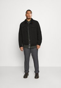 Jack´s Sportswear - JACKET - Denim jacket - keep black - 1