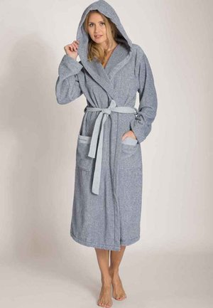 Dressing gown - blue smoke / off white