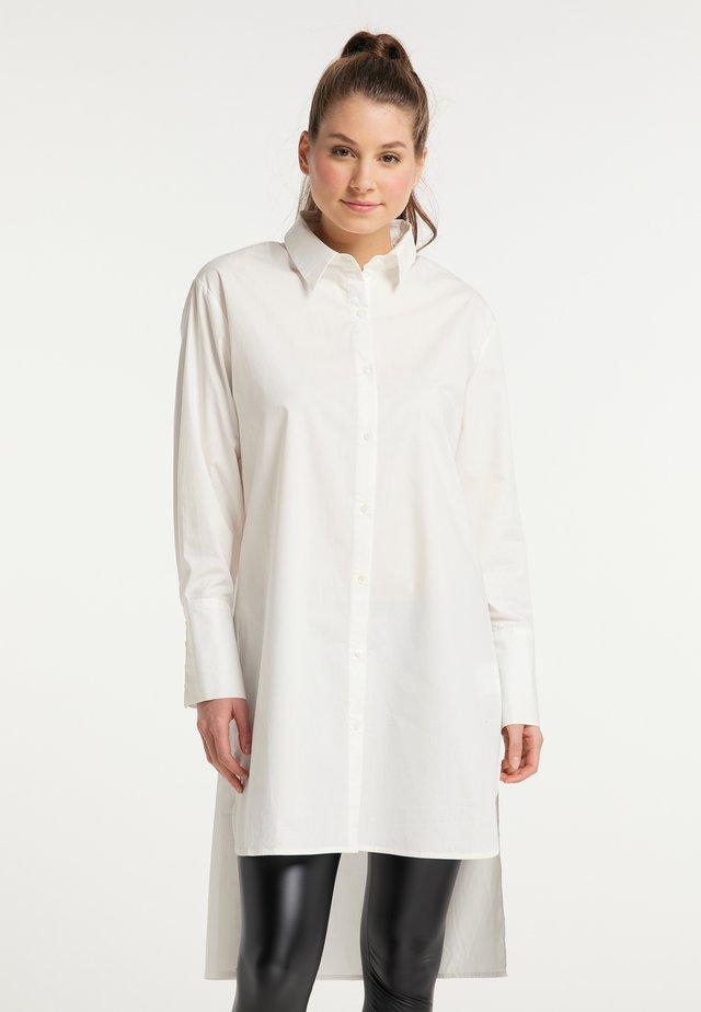 Košilové šaty - wollweiss