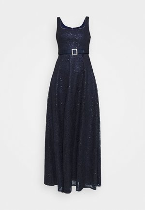 DOT SEQUIN GOWN - Vestido de fiesta - light navy