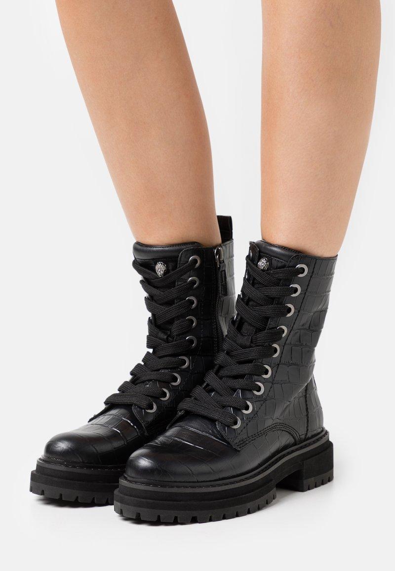 Kurt Geiger London - SIVA - Lace-up ankle boots - black