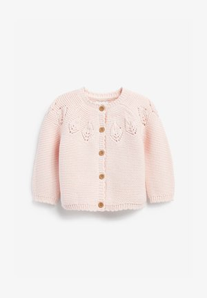 POINTELLE DETAIL - Cardigan - pink