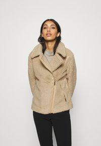 Hollister Co. - BIKER - Winter jacket - tan - 0