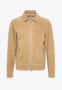 NN07 - TRON SUEDE RACER - Leather jacket - cognac - 4