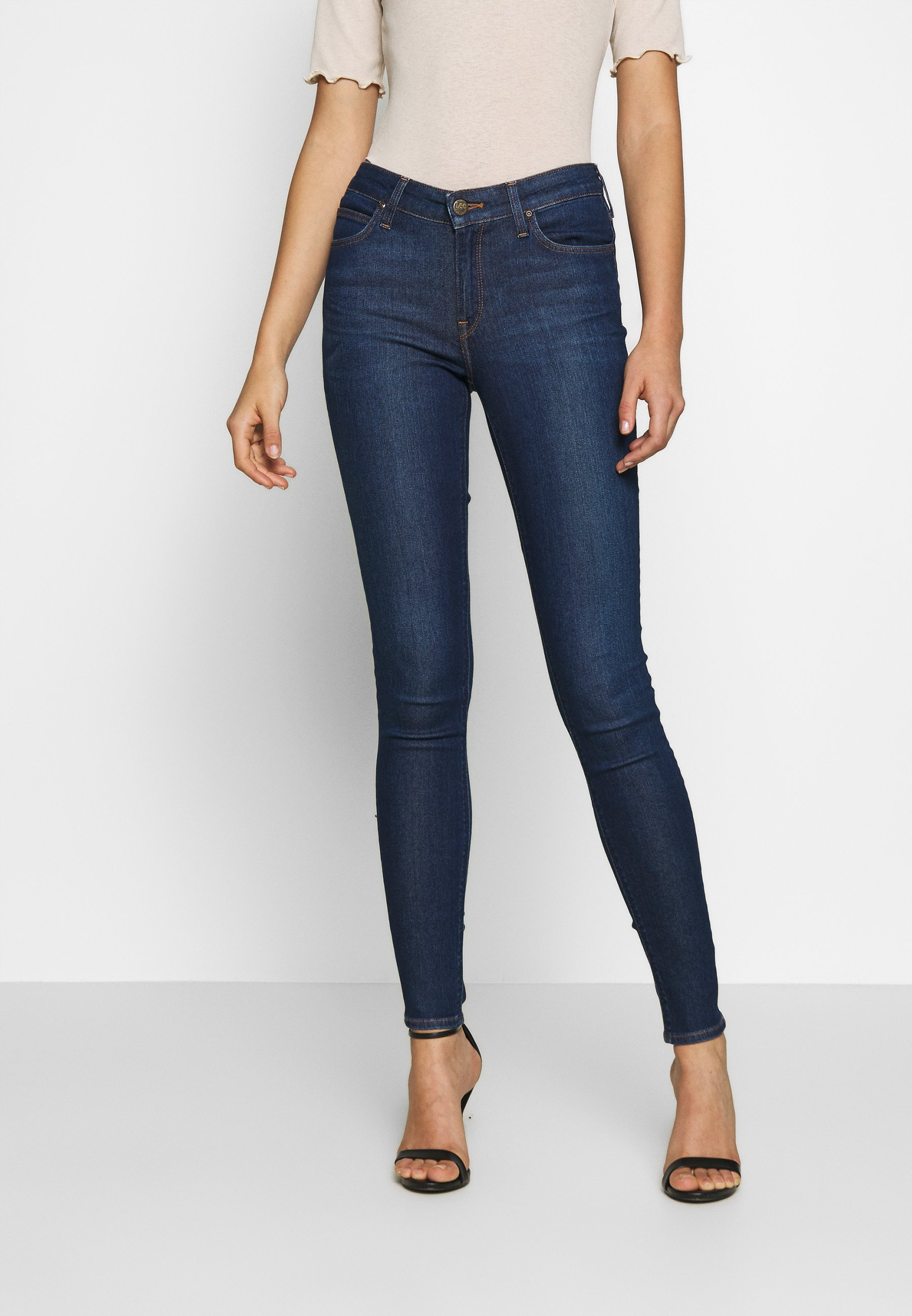 Blue Indigo Skinny Fit Lee Women/'s Jeans Jodee