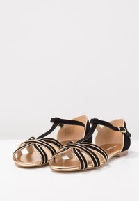 mint&berry - Sandals - black/gold - 3