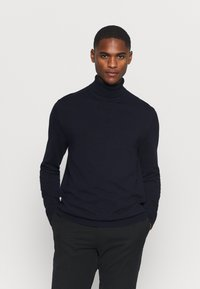 Selected Homme - SLHBERG ROLL NECK - Jumper - navy blazer - 0
