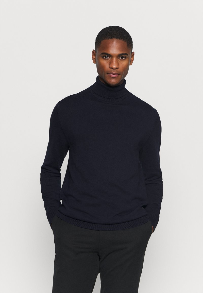 Selected Homme - SLHBERG ROLL NECK - Jumper - navy blazer