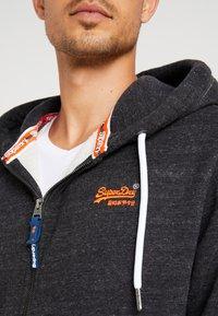 Superdry - ORANGE LABEL CLASSIC ZIPHOOD - Zip-up hoodie - nightshade black marl - 4