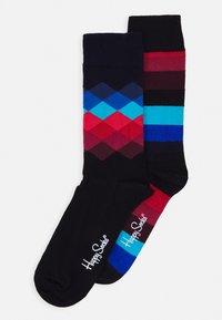 Happy Socks - STRIPES FADED DIAMOND 2 PACK - Socks - multi-coloured - 0