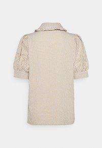 Freequent - GINGHAM - Button-down blouse - beige sand - 1