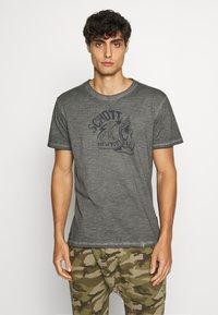 Schott - Print T-shirt - charcoal - 0