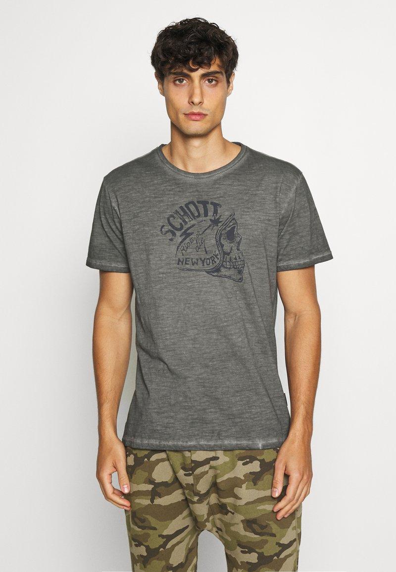 Schott - Print T-shirt - charcoal